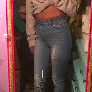 fashion nova light denim jeans